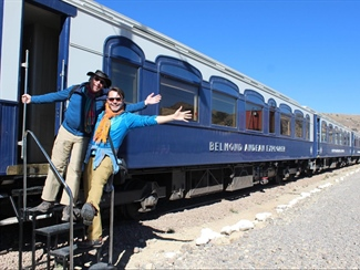 Aboard the Belmond Andean Explorer